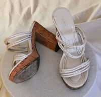 COACH! Genuine leather sandals with cork bottom.  Vaughan, L4J 6K8