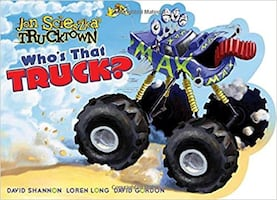 LIKE NEW ** RETAILS for $10 ** Who's That Truck? Board Book