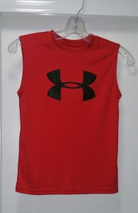red Under Armour tank top Hamilton