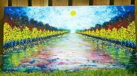 40x20 inches Handpainted acrylic painting  Mississauga, L5M 3G6