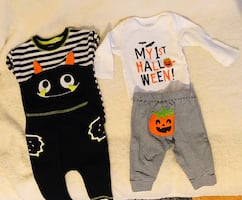 3-6 months- Baby boy Halloween outfits