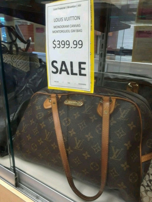 Used black and brown Louis Vuitton monogram leather bag for sale in ... b29efa7df8644