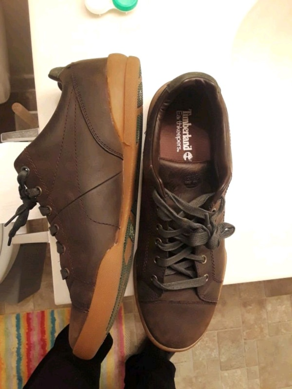 Brown leather timberland