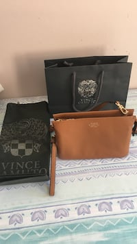 Authentic vice camuto leather bag/ wristlet