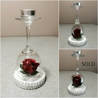 Show her you love her with a rose candle holder Surrey