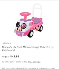 Disney Minnie Mouse Ride-On