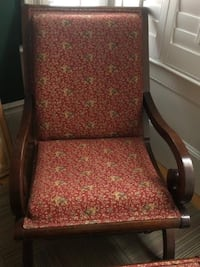 Custom covered chair and stool Boston, 02118