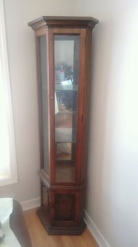 Classic lighted wooden curio cabinet Toronto, M9R 3S7