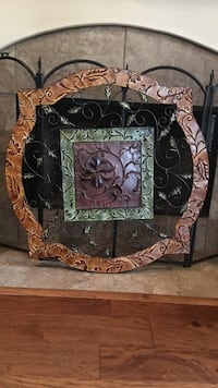 Brown and black wooden framed mirror Madisonville, 70447