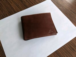 Tony Perotti Tan Leather Italian Designer Bi-Fold Wallet
