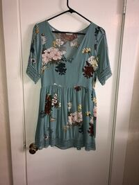 women's blue and black floral long sleeve dress Dallas, 75206