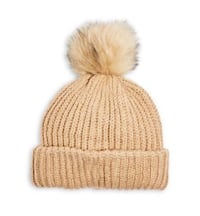 BNWT Camel Ribbed Knit Hat (Wool Blend)