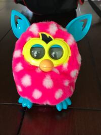 Pink polka dot Furby EUC hours of fun talk to it and it learns your language White Rock, V4B 2Y8