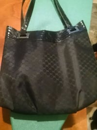 black and gray leather tote bag Belleville, 07109