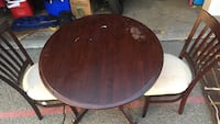 Brown wooden round dining table set Upland, 91786