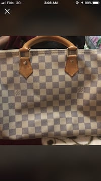 damier azur Louis Vuitton leather handbag Surrey, V3S 3J4