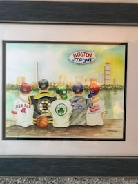 boston strong print with frame Chicago