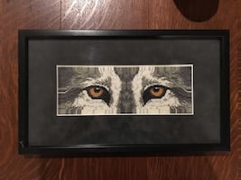 Cross stitch wolf