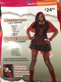 Zombie/red riding hood Halloween costume  size 8-10 years old Toronto, M3M 2V5