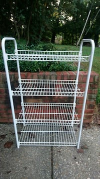 white metal 4-layer rack Bethesda, 20814