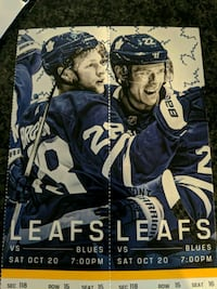 Toronto Maple Leaf tickets Oct 20 7pm Toronto, M5J 1J5