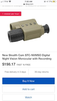 Stealth Cam Digital Night Vision Monocular with Recording