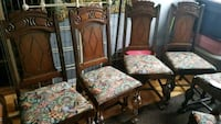 brown wooden framed brown floral padded armchair Cambridge, N3H 3W1