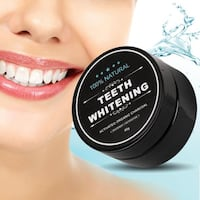 (NEW) ORGANIC Activated Charcoal Bamboo Toothpaste Tooth Powder for Natural Teeth Whitening and Plaque Removal 30g Toronto