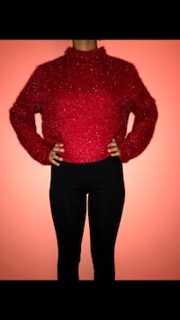Red sparkly top