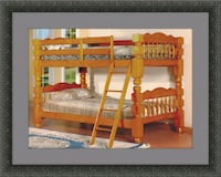 Wooden twin bunkbed frame with 2 mattress Woodbridge, 22191