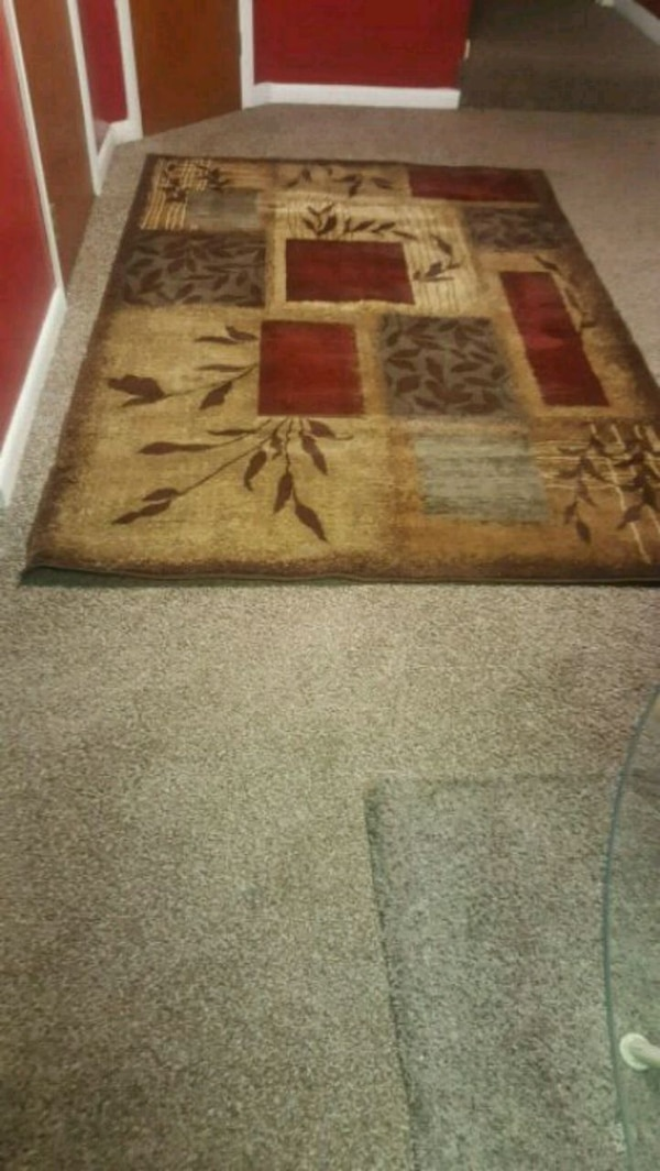 brown and black area rug