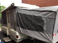 White and gray pop-up trailer Hamilton, L8H 4H4