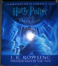 2 harry potter audio cds 7 hard cover books