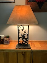black metal base brown shade table lamp East Greenville, 18041