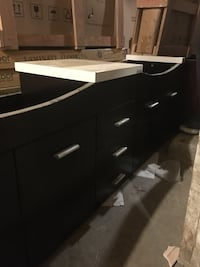 black and white wooden lowboy dresser Regina, S4T 6N1