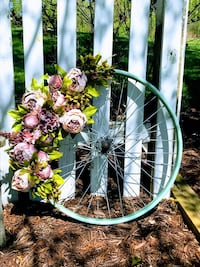 Bike tire wreath- hand made