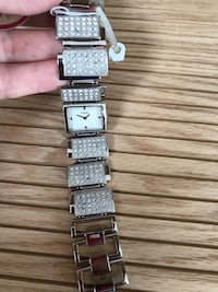 rectangular silver analog watch with link bracelet Gaithersburg, 20879