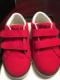 pair of red-and-white slip on shoes Mississauga, L5N 4K5