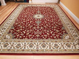 New Red Persian area rug Traditonal rugs 5x8