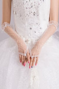 new Grid Lace Gloves white Burnaby