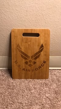 US Air Force wood cutting board food prep meal holiday bamboo 1457 mi
