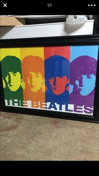 The Beatles artwork with black wooden frame Marysville, 95901