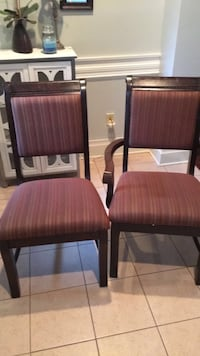 Rectangular brown wooden table with six chairs dining set Lafayette, 70508