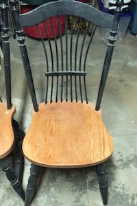 4 oak kitchen chairs. In good shape. FREE Burlington, L7S 1R5