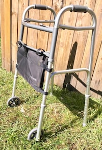 Sturdy walker with wheels and attached personal items pouch 30 OBO 765 mi