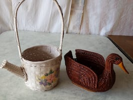 Watering Can + Duck Baskets