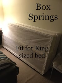King Sized Box Springs Mattress/Bed Mississauga, L5V 3C5
