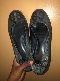 Pair of black leather flats New York, 11208