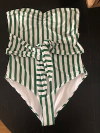 Green Striped Bathing Suit Philadelphia, 19148