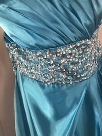 Women's blue and silver spaghetti strapless dress Washington, 20024